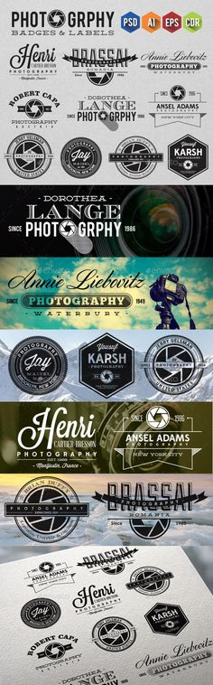 Photography Badges & Labels - Badges & Stickers Web Elements