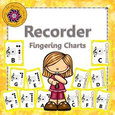 Recorder Fun Fingering Chart Silly Faces  Finger Middle And Note