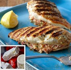 Low Carb Stuffed Greek Chicken! - Stuff it and Grill it! 15 minutes! (lot's of exclamation points!!).