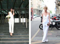 Μοντέρνοι γάμοι: Σύγχρονα νυφικά φορέματα. Και μην αποσπούν την προσοχή από τις με πάρα πολλές λεπτομέρειες, μην χρησιμοποιείτε πάρα πολύ κοσμήματα ή παπούτσια με διάφορες λεπτομέρειες, τολμηρές είναι οι νύφες που κάνουν μια επιλογή μινιμαλιστική και ιδιαίτερα πρωτοποριακή.
