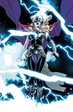 Thor by Mahmud Asrar Marvel Comic Universe, Marvel Comics Art, Marvel Heroes, Marvel Universe, Comic Book Artists, Comic Artist, Comic Books Art, Female Thor, Avengers