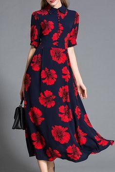 81 99 Dark Navy Contrast Collar Floral Shirt Dressproducts id 1000012989 or 1000013210 or 1000012801 or 1000013613 Floral Shirt Dress, Dress Up, Floral Shirts, Smock Dress, Fashion Dresses, Maxi Dresses, Designer Dresses, Beautiful Dresses, Dresses With Sleeves