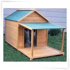 Simply Cedar  House with Optional Porch and Deck...this house is for the dogs!