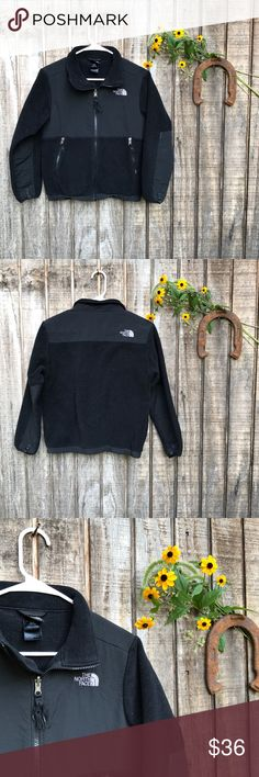 Boys Black North Face Used but good condition. Front tassel is also frayed (shown) The North Face Shirts & Tops Sweatshirts & Hoodies