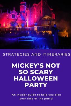 A guide to help you plan your night at Mickey's Not So Scary Halloween party! Included are two itineraries, strategies, and more tips! Disney Halloween, Scary Halloween, Halloween Party, Halloween Makeup, Halloween Costumes, Disney On A Budget, Disney World Planning, Disney World Tips And Tricks, Disney Tips