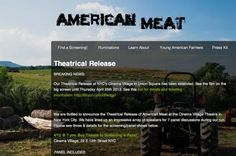 "American Meat Documentary film premiere - ""If there is a star of this film, it is Joel Salatin, considered the defacto expert on the subject of sustainable grass farming..."""