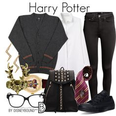 Harry Potter by leslieakay on Polyvore featuring H&M, Converse, Stella & Dot, Christian Dior, Elope and harrypotter
