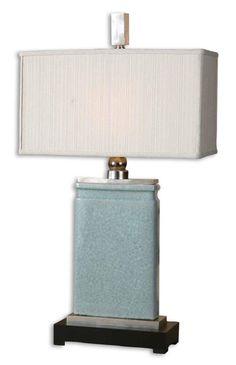 Uttermost Savant Polished Nickel Table Lamp COLOR Black Gray