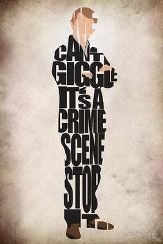 John Watson Poster Martin Freeman Typography Print by GeekMyWalL Sherlock Fandom, Sherlock John, Sherlock Holmes, Sherlock Poster, Watson Sherlock, Jim Moriarty, Sherlock Quotes, John Watson, A Study In Pink