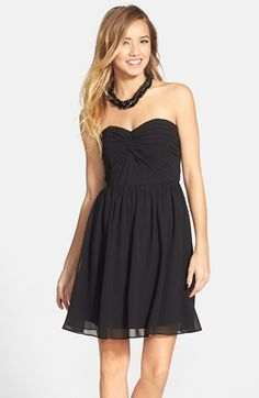 a. drea Twist Front Strapless Dress (Juniors) available at #Nordstrom