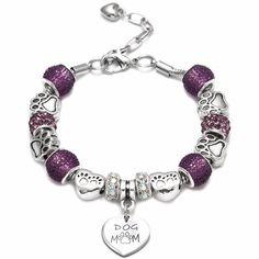 Bracelet Clasps, Bangle Bracelets, Diy Jewelry Gifts, Cheap Charm Bracelets, Friends In Love, Dog Mom, Heart Charm, Teen, Charmed