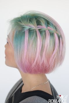 Pink hair and braids - Pantone rose quartz hair inspiration