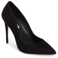 $89.95 - Women's Steve Madden Daisie Pointy-Toe Pump - A towering stiletto and a dramatically pointy toe bring season-essential detailing to a must-have pump styled with a curvy low topline for leg-lengthening drama. Brand: STEVE MADDEN. Style Name:Steve Madden Daisie Pointy-Toe Pump (Women). Style Number: 5415245. Available in stores.