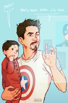 superfamily au where tony and steve science up a baby that shares both their dna and name him peter benjamin stark-rogers and endgame never happened. Marvel Comics, Funny Marvel Memes, Avengers Memes, Marvel Jokes, Marvel Heroes, Marvel Avengers, Marvel Characters, Spideypool, Superfamily Avengers