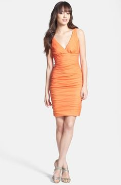 Nicole Miller Ruche Techno Metal Sheath Dress available at #Nordstrom