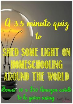 Current and former homeschooling parents: help shed some light on homeschooling around the world by answering a 3.5 minute survey
