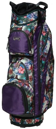 Whether you are walking the course or riding in a cart, #lorisgolfshoppe has a golf bag for you. Shop this Tropical Glove It Ladies 14-Way Golf Cart Bag today!