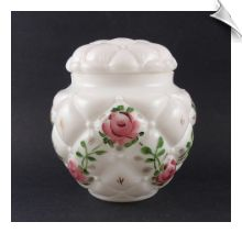 Consolidated Con-Cora TUFTED PILLOW Cookie Jar with Pink Roses $69.95