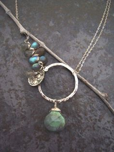 Asymmetrical+Labradorite+Necklace+with+by+dnajewelrydesigns,+$78.00