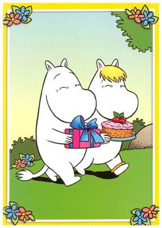 Hope you have a lovely time Moomin! Cartoon Hippo, Moomin Mugs, Tove Jansson, Moomin Valley, Happy Birthday Pictures, Summer Sky, Cartoon Images, Game Character, Pikachu