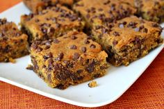 Pumpkin- Chocolate Chip Squares | Recipe Girl