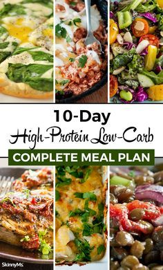 Complete High-Protein Low-Carb Meal Plan Looking for a low-carb meal plan that's also high in protein? This High-Protein Low-Carb Complete Meal Plan is filled with incredible no-hassle meals that will help you lose weight and feel great! High Protein Meal Plan, Low Carb High Protein, Low Carb Meal Plan, Low Carb Diet, Healthy High Protein Meals, High Protein Dinner, High Carb Meals, Protein Veggie Meals, Healthy Recipes