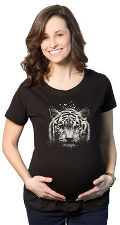 3bb469294a327 Interconnection Tiger Maternity Shirt | CrazyDog T-shirts Funny Pregnancy  Shirts, Pregnancy Humor,