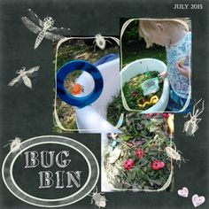 "Made with ""A bug's World"" By Janet Scott Design from Pixel Scrapper."