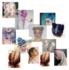 """""""~Rainbow Hair Goals~"""" by bribrireed ❤ liked on Polyvore featuring In Your Dreams"""