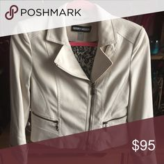 Faux Seude Moto Jacket Blazer Like New condition. Double zipper Moto style jacket. Zip Pockets. Tailored fit. Perfect for spring and summer, business and casual wear. Price negotiable. Gerry Weber Jackets & Coats