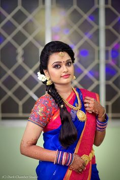 : South Indian Brides Bridal Inspirations Indian Brides In 2019 - - Giovanna -. : South Indian Brides Bridal Inspirations Indian Brides In 2019 - - Giovanna -. South Indian Hairstyle, South Indian Wedding Hairstyles, Indian Bridal Hairstyles, Indian Bride Poses, Indian Wedding Bride, South Indian Bride, Civil Wedding, Saree Wedding, Saree Hairstyles