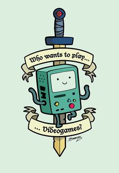 Who wants to play video games? #beemo #bmo #adventuretime
