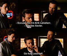 Ahh, you gotta love Wolverine -- Hugh Jackman in X-Men: First Class