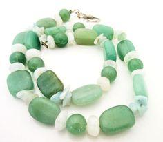 Green Aventurine Bead Necklace quartz beads - pinned by pin4etsy.com