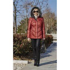 Μπουφάν με κουκούλα Faux Fur, Winter Jackets, Blazer, Coat, Shopping, Fashion, Winter Coats, Moda, Sewing Coat