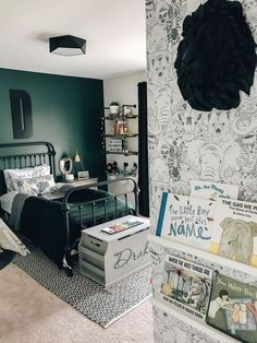 Affordable Bedroom Decor Ideas For Your Little Boys – Boy Room 2020 Boy Toddler Bedroom, Big Boy Bedrooms, Boys Bedroom Decor, Toddler Rooms, Bedroom Green, Toddler Teepee, Toddler Girl, Cozy Bedroom, Green Boys Room
