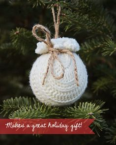 Susan Tuttle Photography - recycled sweater ornament