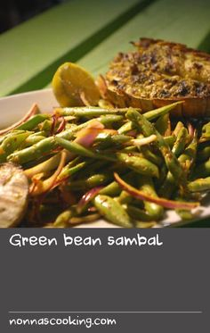 """Green bean sambal 