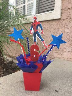 Spiderman centro de mesa centro de mesa fiesta decoraciones