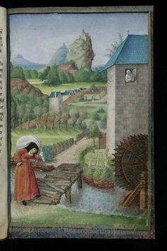 """Cologny, Fondation Martin Bodmer, Cod. Bodmer 144      René D'Anjou: Le mortifiement de vaine plaisance  """"This manuscript contains the tract """"Le Mortifiement de Vaine Plaisance"""" by King René of Anjou. This allegorical poem, composed in 1455, invites people to a holy life, via a dialogue between soul and heart about abstinence from unsatisfying earthly things. CB 144 is decorated with eight full-page miniatures made by Jean Colombe in about 1470."""""""