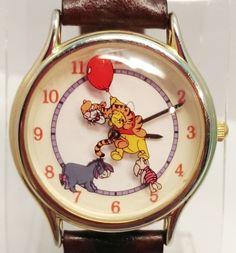 #Disney Time Works Animated Winnie The #Pooh #Watch by #Fossil Quartz WR Gold Tone $29.00 USD www.iiwiiMerchandise.com