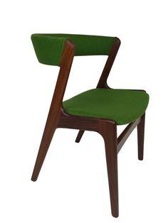 Danish Teak Arm Chairs by Kai Kristiansen Mid Century Modern Vintage Dining Desk #MidCenturyModern