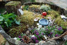 fairy garden from Blueberry Cottage