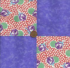 Purple Roses 4 inch Fabric Craft Quilt Squares  Block zp1  #SpotMore