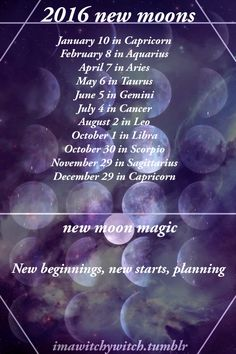 2016 Moon Phases. Schedule of full moons, new moons, eclipses.