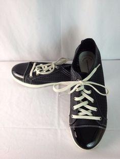 Croft & Barrow Sole Sense Ability Memory Foam Black Tie Sneaker Style Shoes 9M #SoleSenseAbility #Sneakers