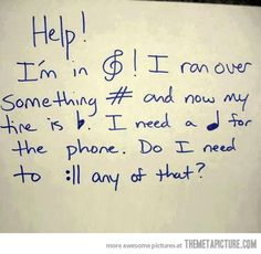 Only readers of music will get this!..I get it! Comment if you get it!