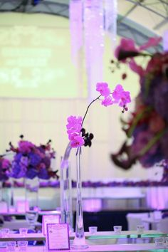 Pretty Purples — Full Bloom Table Centerpieces, Table Decorations, Glass Vase, Bloom, Purple, Stylish, Pretty, Home Decor, Centerpieces