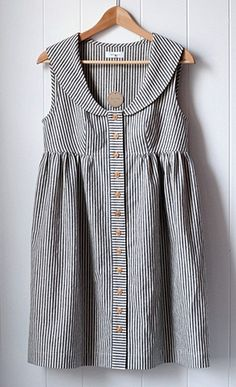 Indigo Striped Dress