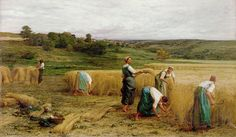 Harvest Painting by Leon Augustin Lhermitte